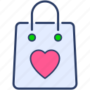 bag, ecommerce, favorite icon, merchandise, shopping icon