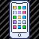 digital, media, mobile app, smart phone, social media, software, tablet icon