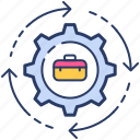 employee change, job change, job replacement, switch icon icon