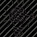 bulb icon, marketing, lamp, business, seo, idea, target