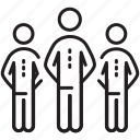 business, leader, leadership, people, team icon