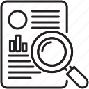 study, magnifying, research, find, case, magnifier icon