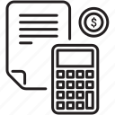 banking, budget, calculator, counting, currency icon, financial bill, home finances