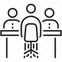 conversation, interview, job, job interview, meeting, team work icon, viva icon