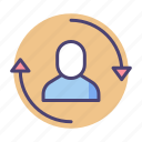 customer, retention icon