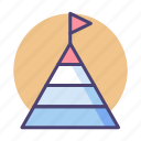 chart, infographic, pyramid chart icon