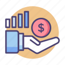 commission, increase income, increase profit, increase sales, sales icon