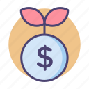 growth, money plant, money tree icon