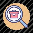 job, job search, job seeker, position, searching, vacancy icon
