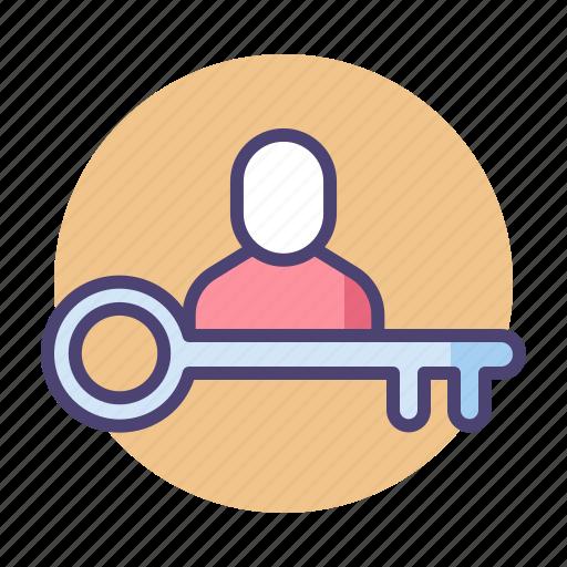 key, key person, person, vip icon