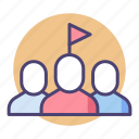 group, head of department, leader, leadership, team, team lead, team leader icon