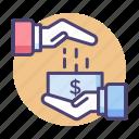 cash, commission, dividend, loan, payment icon