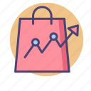 analytics, forecast, market trend, retail trend, shopping trend, trending icon
