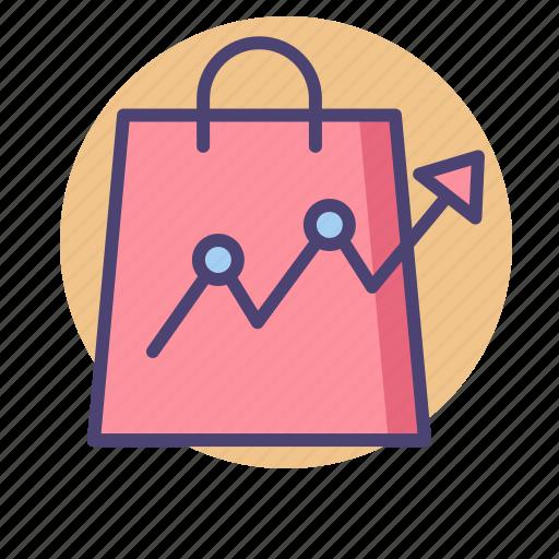 analytics, forecast, market trend, retail trend, shopping trend, trending icon