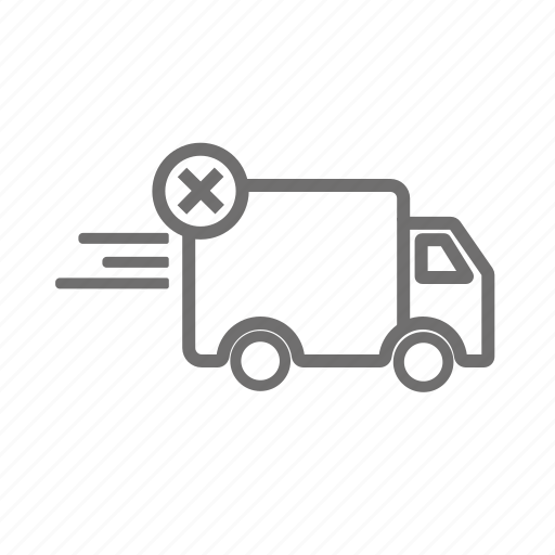 cancel, cancel order, canceled, delivery, transportation, vehicle icon