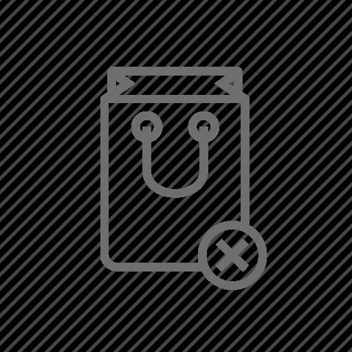 bag, basket, cancel, cart, shop, shopping, store icon
