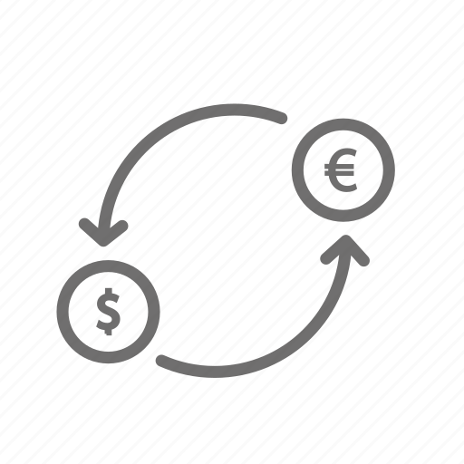 coin, currency, dollar, euro, finance, financial, payment icon