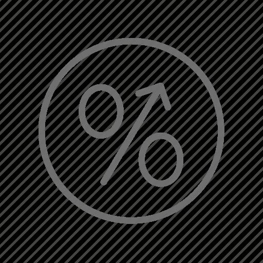 analytics, business, chart, finance, percent, percentage, statistics icon