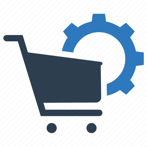 cart, ecommerce, gear, optimization icon