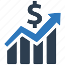analytics, growth, income, investment, report icon