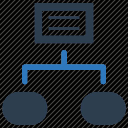 flowchart, hierarchy, scheme, workflow icon
