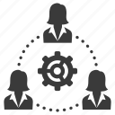 business, cog, control, gear, group, people, teamwork icon