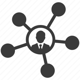 business, connection, links, man, nodes, social icon