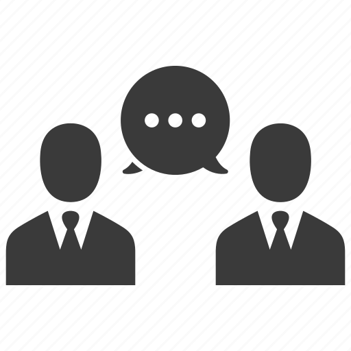 business, businessmen, message, people, talk, users icon