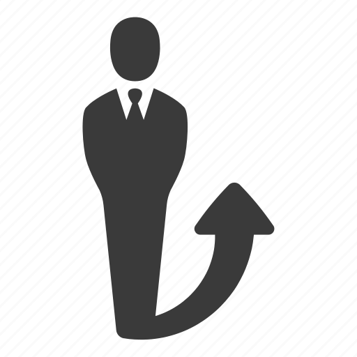 business, businessman, finance, growth, increase, profit, user icon