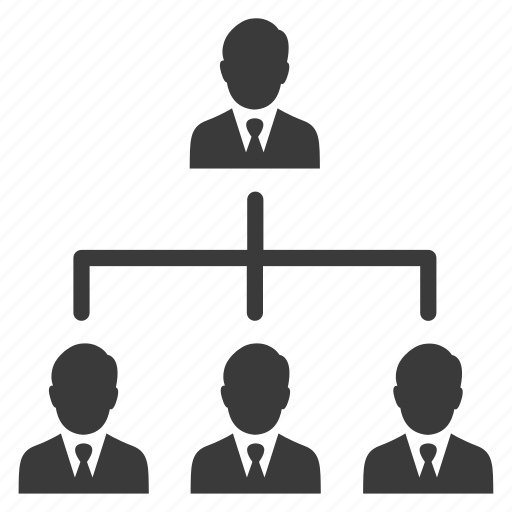 business, hierarchy, management, people, users icon