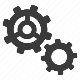 cogs, config, configure, gears, options, settings icon