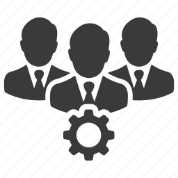 business, gear, people, teamwork, users icon