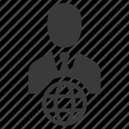 avatar, business, businessman, internet, person, user, web icon
