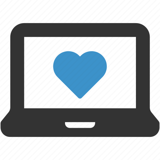 computer, favorite, favourites, heart, laptop, like icon