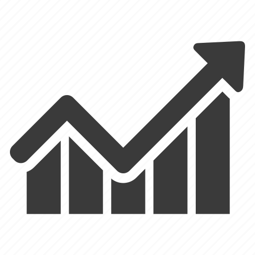 analytics, arrow, business, chart, graph, increase, profit icon