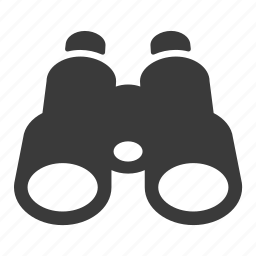 binoculars, find, look, search, zoom icon