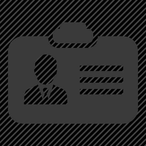 business, card, id, identification, man, pass icon