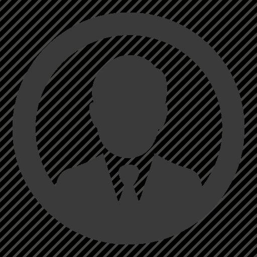 account, business, businessman, person, profile, user icon