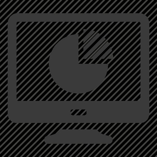 analytics, chart, computer, graph, pie, share icon