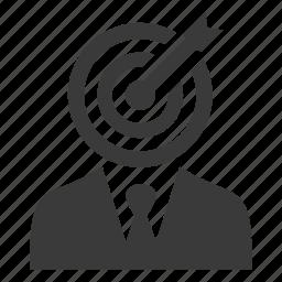 archery, arrow, businessman, man, success, target, user icon