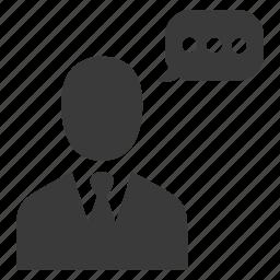 chat, message, speech, talk, user icon