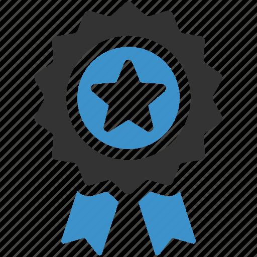 achievement, award, medal, premium, quality, reward, star icon