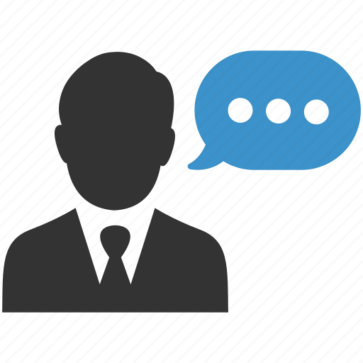 businessman, comment, conversation, interview, meeting, speech, talk icon