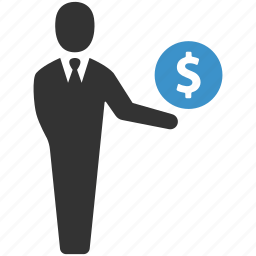 business, businessman, dollar, earnings, finance, income, payment icon