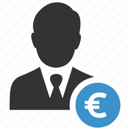 business, businessmen, earnings, euro, finance, funds, income icon