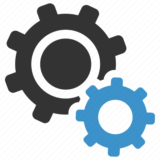 business, cogs, gears, options, productivity, settings, support icon