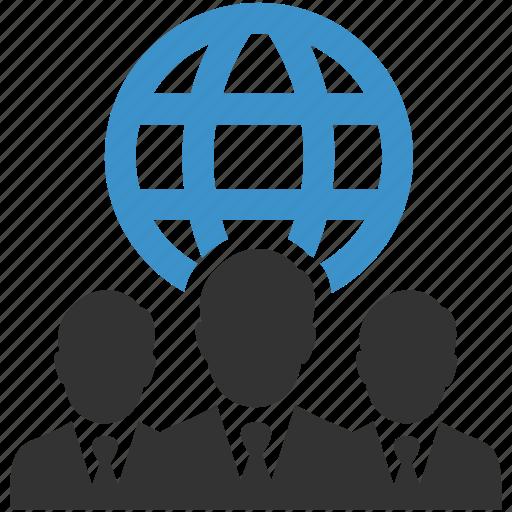 business, businessmen, global, globe, international, internet, web icon
