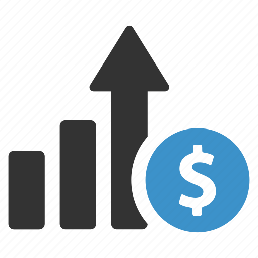 dollar, earnings, finance, income, profit, sales, statistics icon