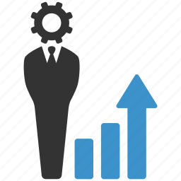 business, businessman, chart, finance, increase, money, progress icon