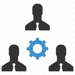 businessmen, cog, gear, management, people, productivity, support icon